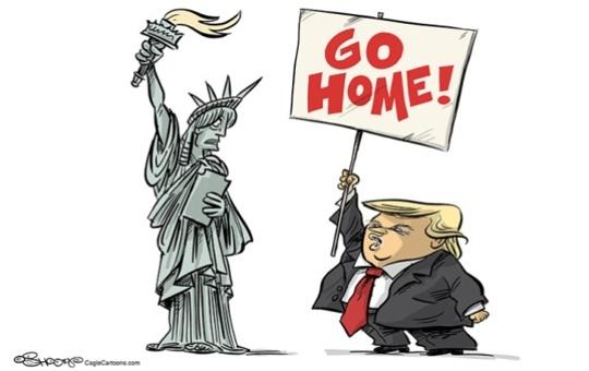 Трамп та статуя Свободи. Карикатура The Denver Post