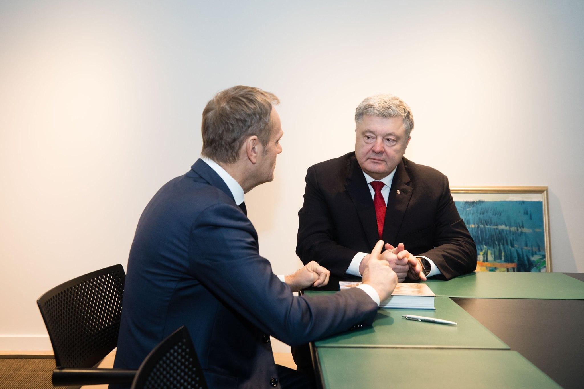 Петро Порошенко та Дональд Туск