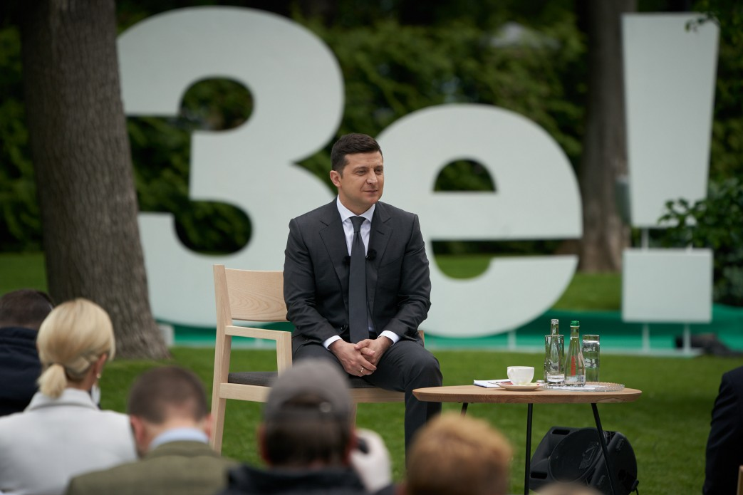 Пресконференція президента України Володимира Зеленського, 20 травня 2020 року (фото пресслужби президента)
