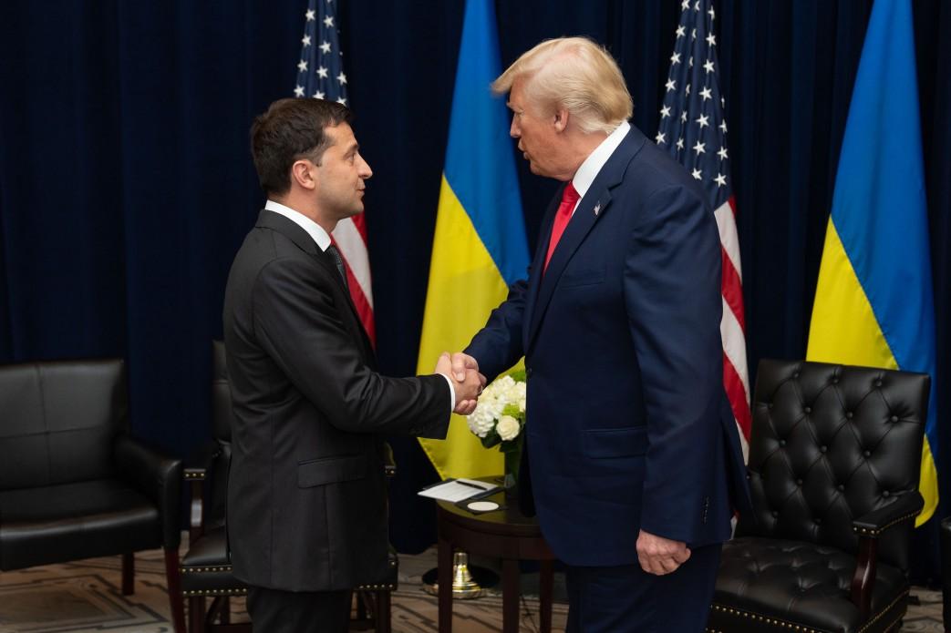 Президент України Володимир Зеленський та президент США Дональд Трамп