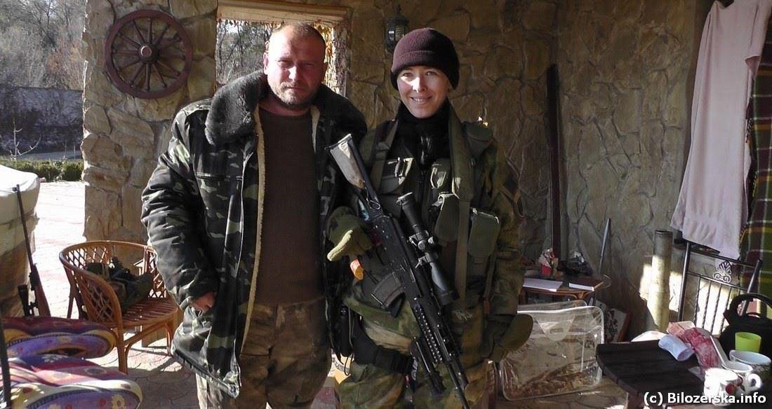 З Дмитром Ярошем, засновником ДІЇ та Української добровольчої армії, до лав котрої належить Олена Білозерська