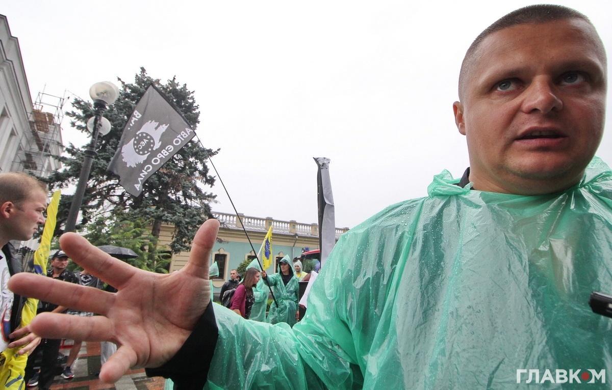 Андрій Щербина говорить, що «блях ери» стоятимуть під Радою мінімум три дні