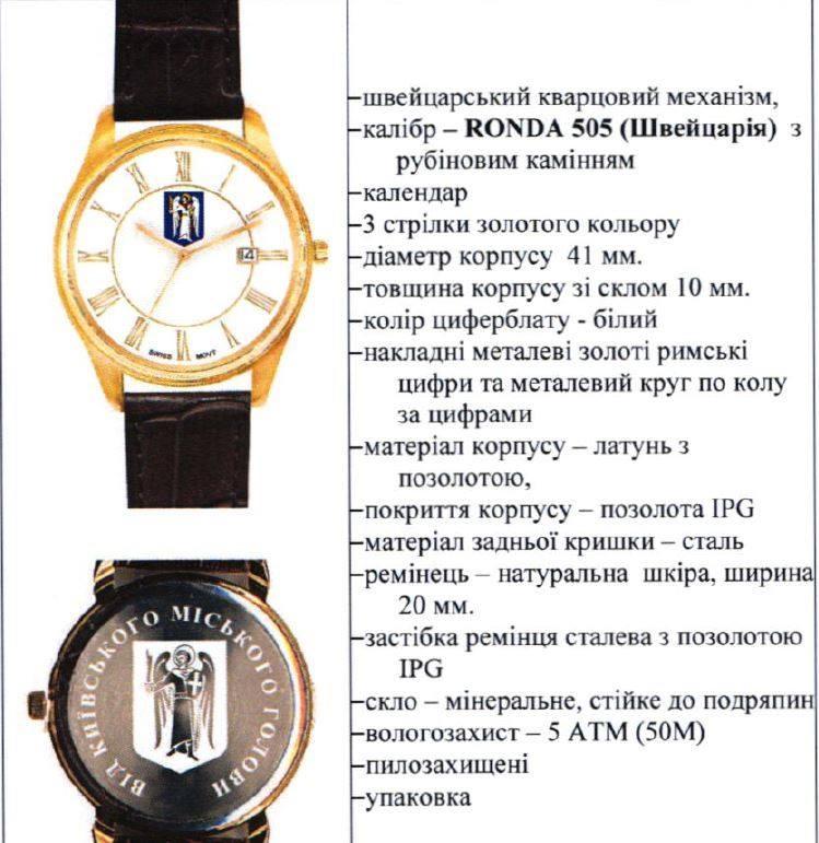 Київська мерія купила подарункових годинників на 4 млн грн (фото ... 56d6b458e4b4e