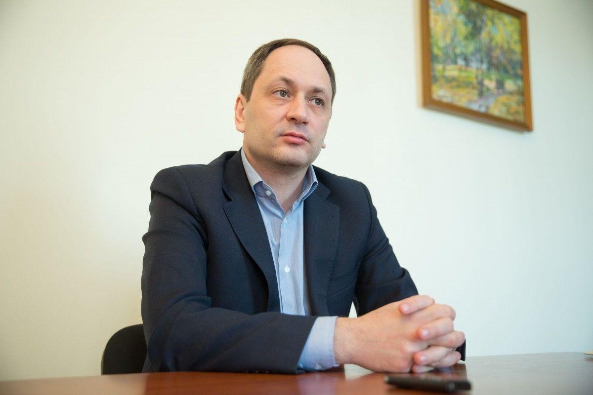 Міністр з питань тимчасово окупованих територій Вадим Черниш. Фото: УНІАН