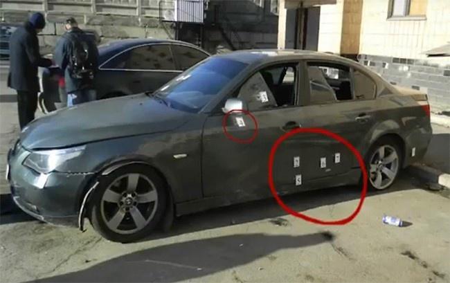 розстріляна BMW