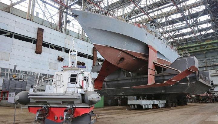 Феодосійський суднобудівний завод «Море» закінчує будівництво корпусу ракетного корвету