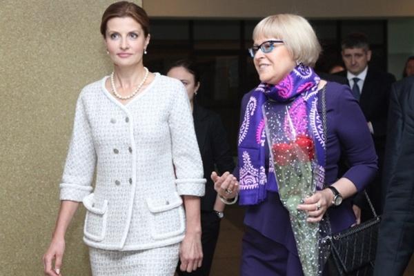 Марина Порошенко та Катерина Амосова