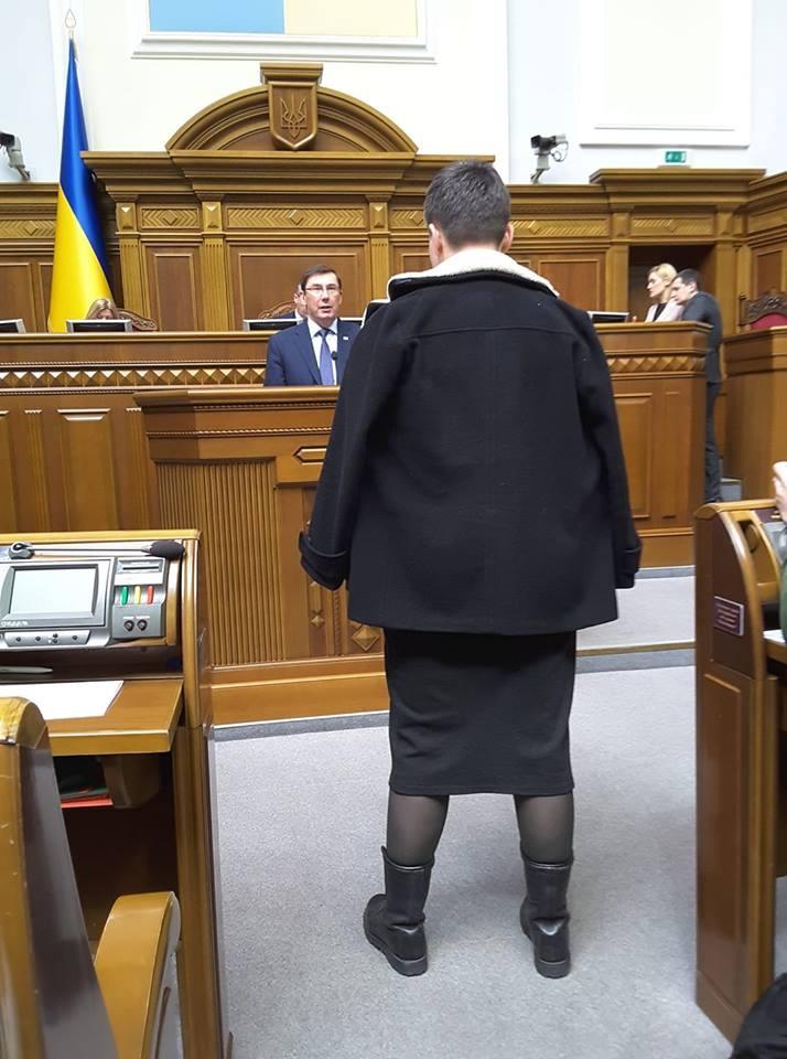 Юрій Луценко та надія Савченко. Фото: Ольга Червакова