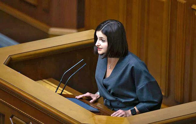 Законопроєкт про Бюро економічної безпеки презентувала одна з його основних авторів – Ольга Василевська-Смаглюк зі «Слуги народу»