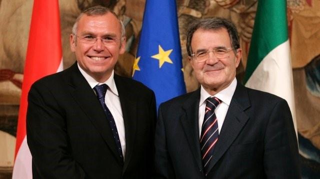 Екс-канцлер Австрії Альфред Гузенбауер та екс-президент Єврокомісії Романо Проді – члени лобістської «Габсбурзької групи»