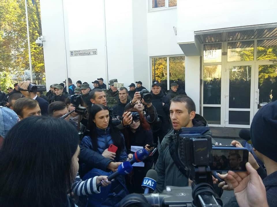 Сергій Мазур є підозрюваним у справі нападу на табір ромів на Лисій горі у квітні 2018 року, проти нього відкрито кримінальне провадження.