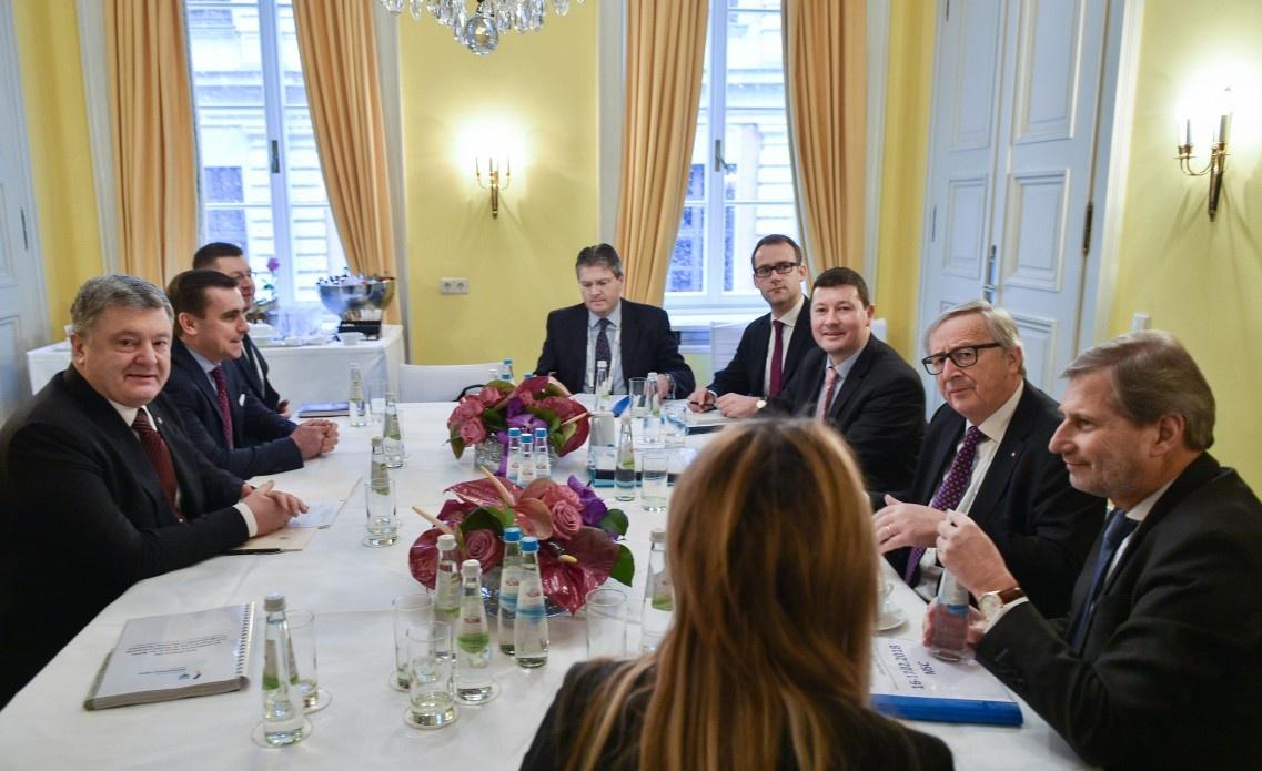 Порошенко обговорив з президентом Європейської комісії Юнкером перспективи виділення Україні чергової макрофінансової допомоги, а також шляхи реалізації ініціативи «Східне партнерство»