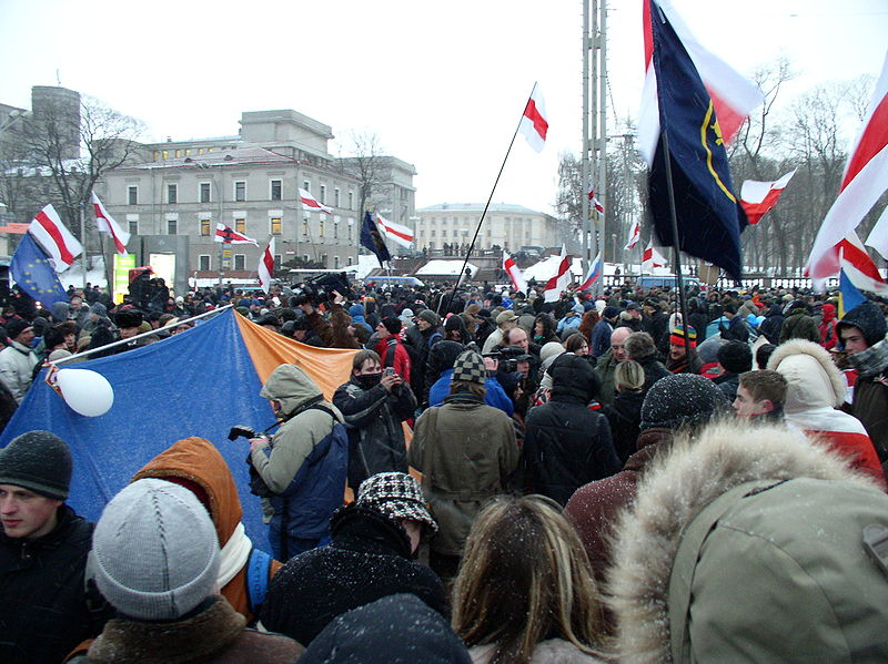 Мітинг прихильників білоруської опозиції у 2006 році