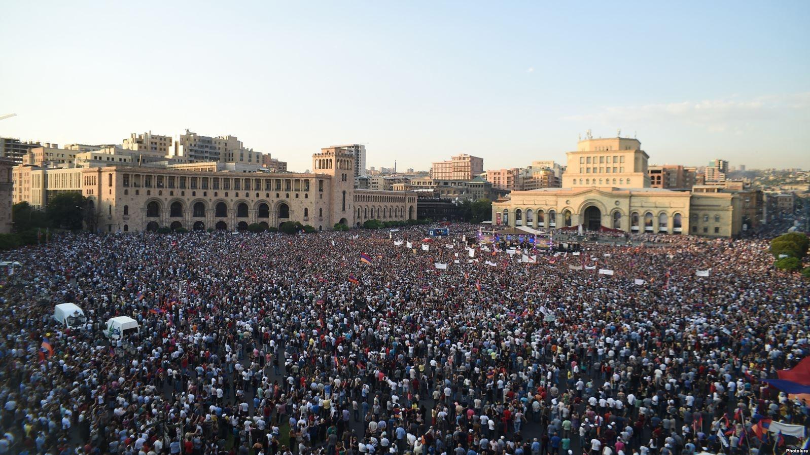 Мітинг на площі Республіки в Єревані, 17 серпня 2018 р