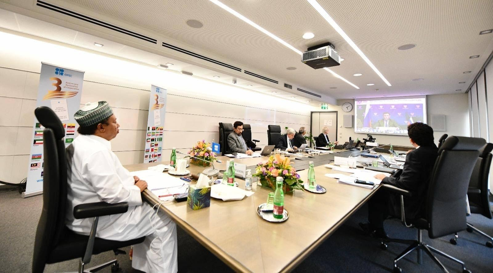 Генсек ОПЕК Мохаммед Баркіндо в ході відеоконференції підкреслює важливість чергової угоди зі скорочення нафтовидобутку