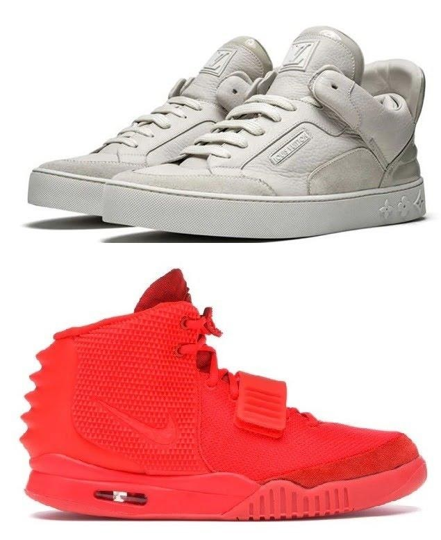 На думку Каньє Веста внутрішню політику можна порівняти із дизайном кросівок Louis Vuitton (зверху) і Nike (знизу). Колаж «Главком»