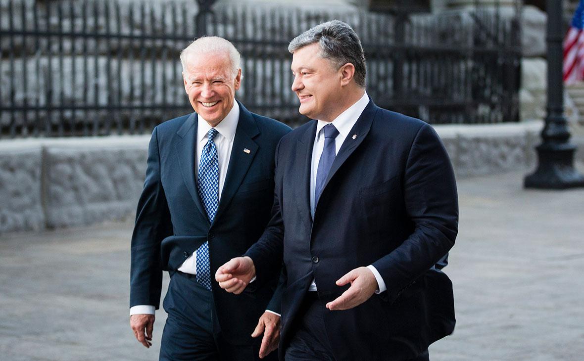 Джо Байден і Петро Порошенко. Фото: AP