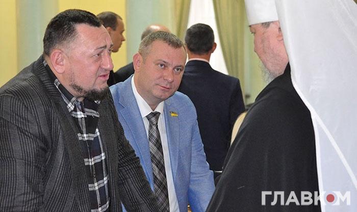(Зліва направо) Нардепи Олександр Герега і Андрій Шинькович