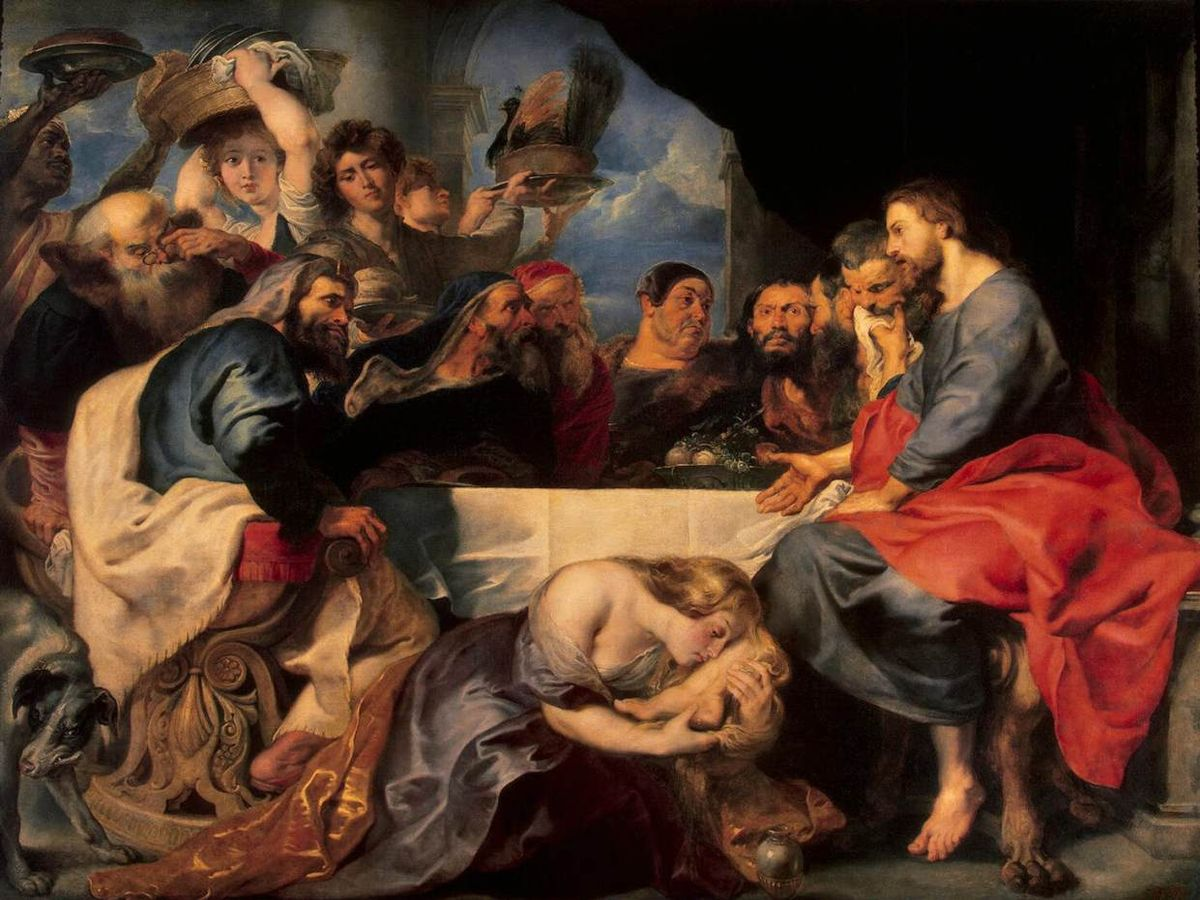 «Бенкет в будинку Симона Фарисея» / Картина Рубенса