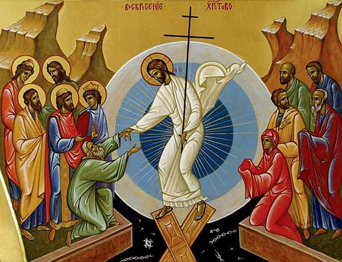 На другий день перебування у гробі Ісус спустився в пекло, і поламав його ворота / Фото з відкритих джерел