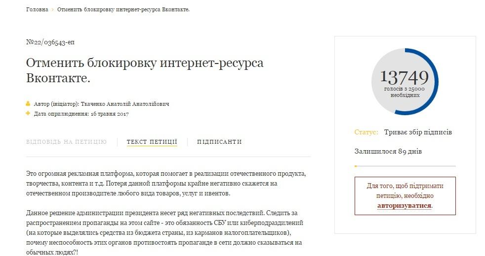 Українці запропонували створити український аналог «ВКонтакте»