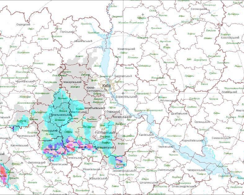 Сьогодні назаході, півдні тавцентрі Україні очікуються грози