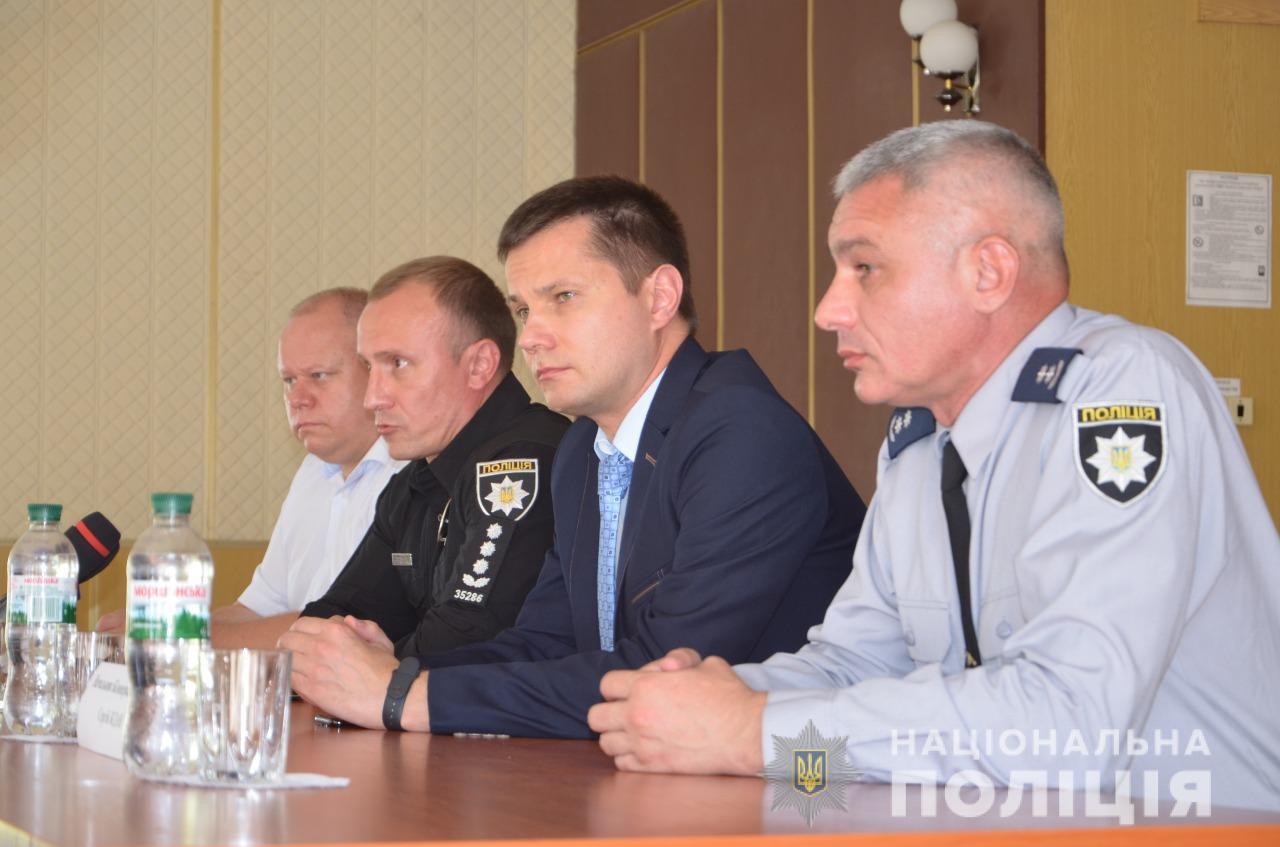 Новим керівником поліції Білоцерківщини став Сергій Ждан (крайній справа на фото)