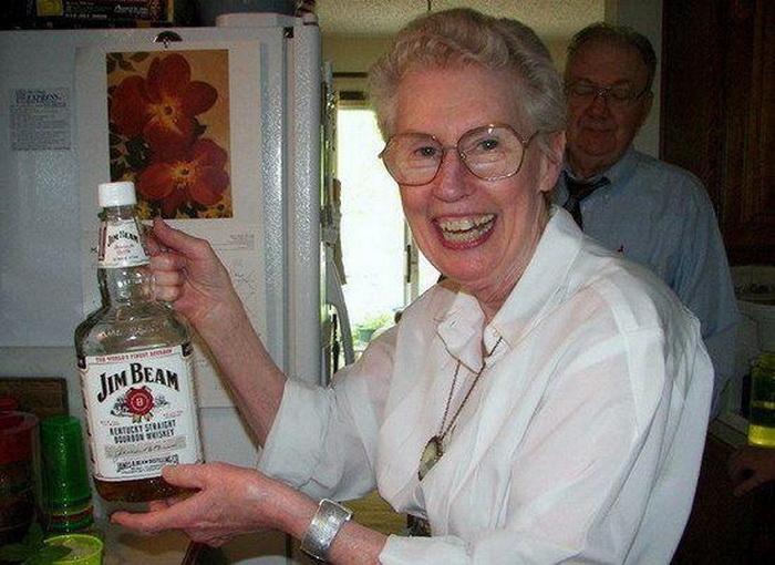 Прикольные картинки пьяная бабка