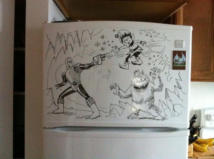 Смешные рисунки фломастером, письмо анимированную открытку