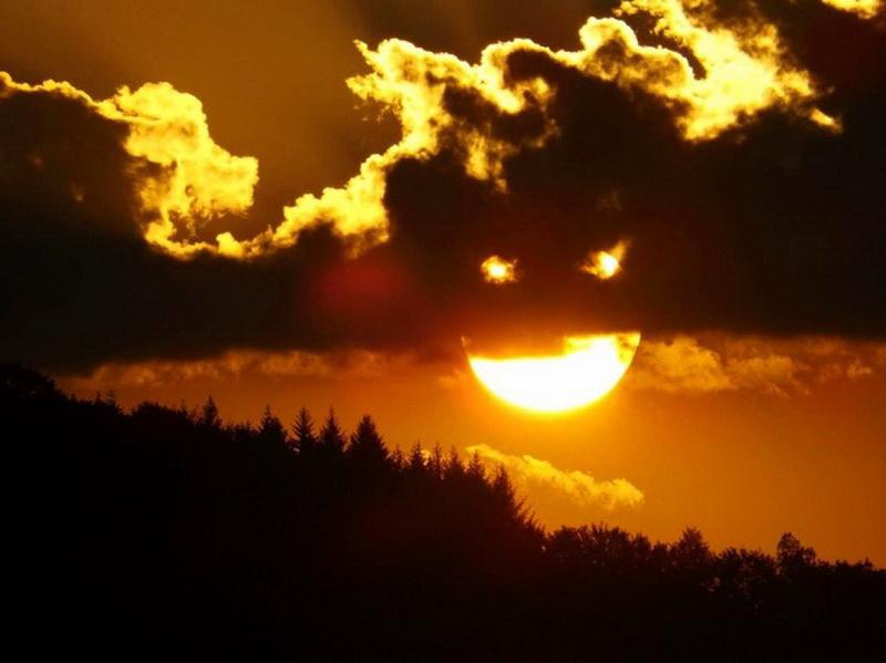 Солнце в смешных картинках, забыл