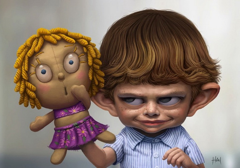 Любовь картинки, рисунки смешных кукол