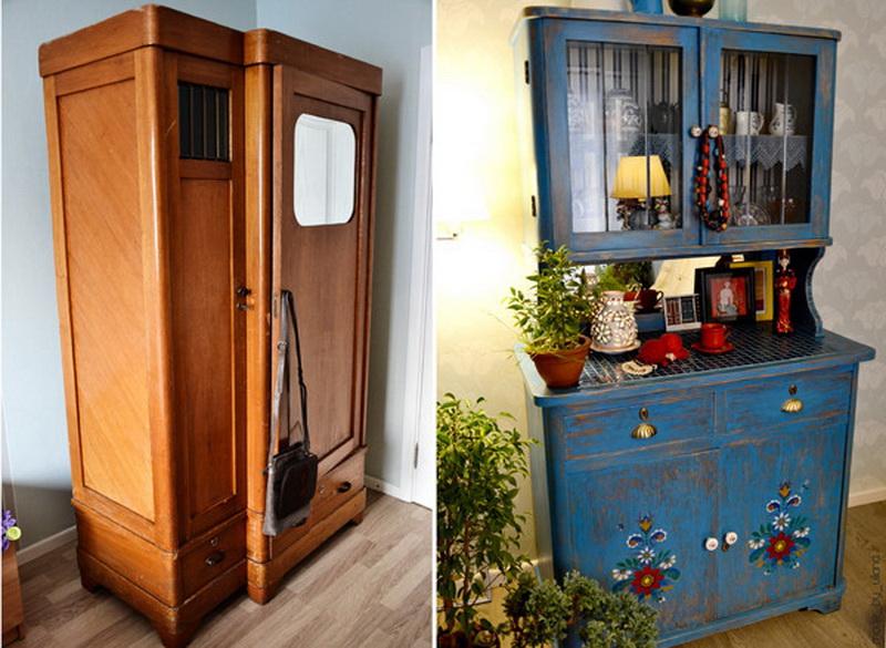 реставрация старинного шкафа своими руками фото