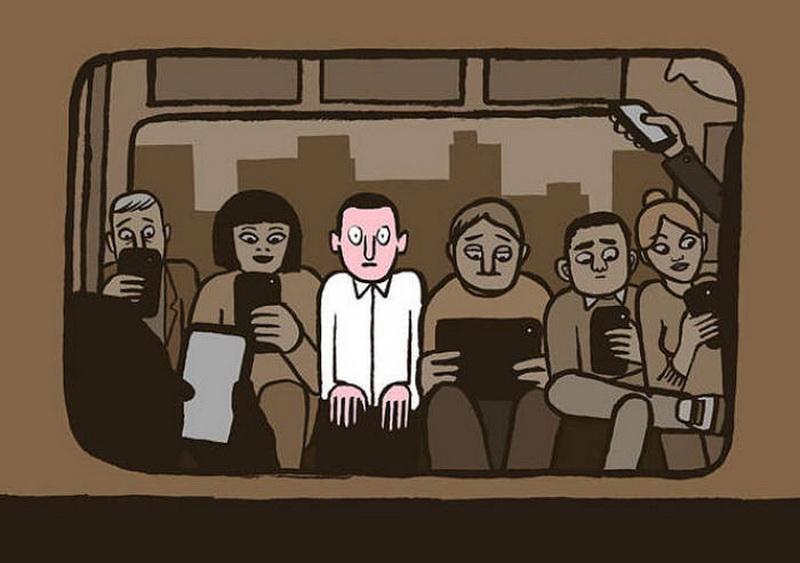 чудесный картинка как телефон отдаляет людей друг от друга новолуние