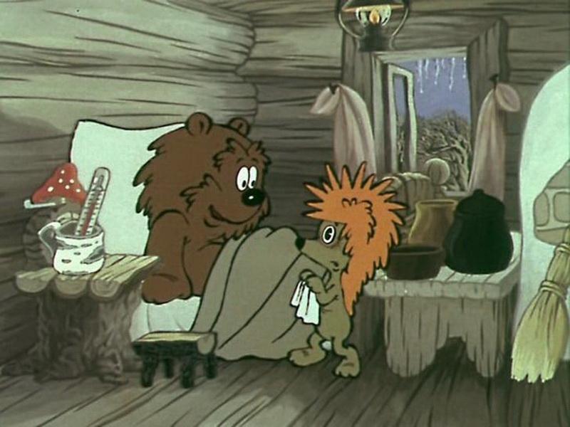 Ежик и медвежонок картинки из мультфильма