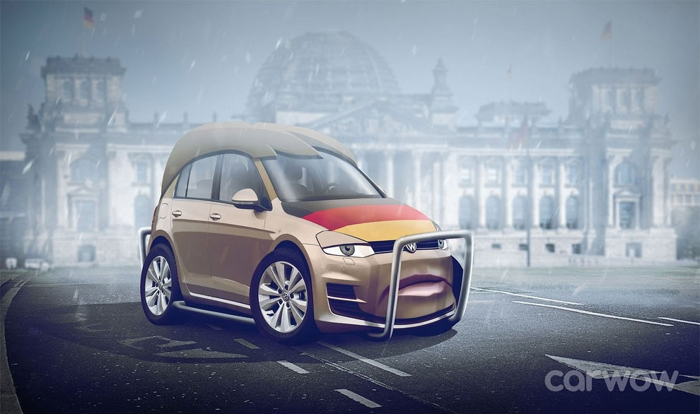 Федеральный канцлер Германии Ангела Меркель — Volkswagen Golf.