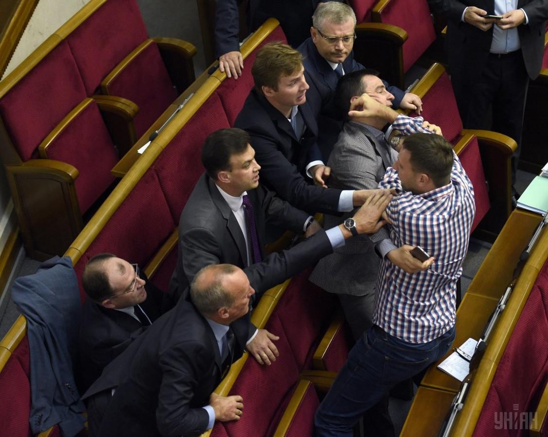 Бійка в Раді за участі Володимира Парасюка