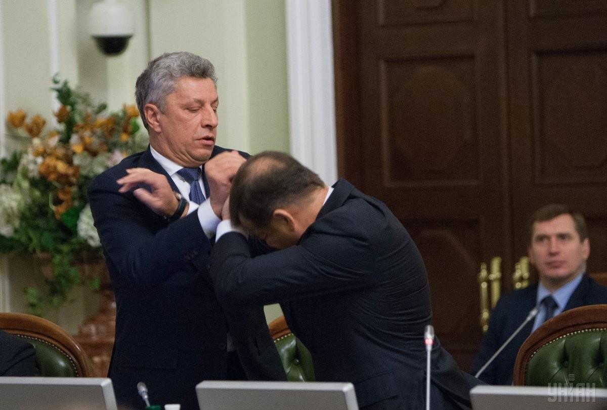Бійка між Юрієм Бойком та Олегом Ляшком