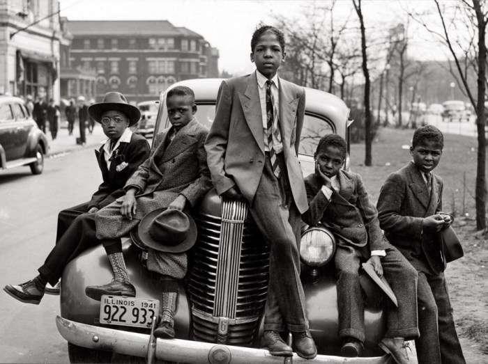 Дети-модники на улицах города Чикаго, 1941 год