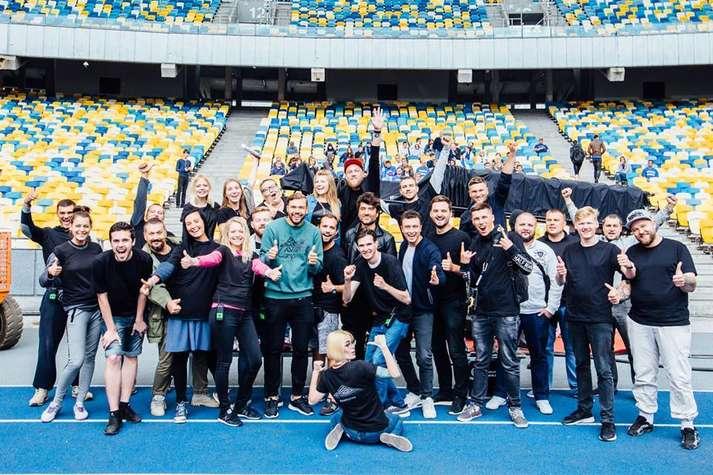 Голлівудська зірка Джейсон Стетхем у Києві знявся в рекламі