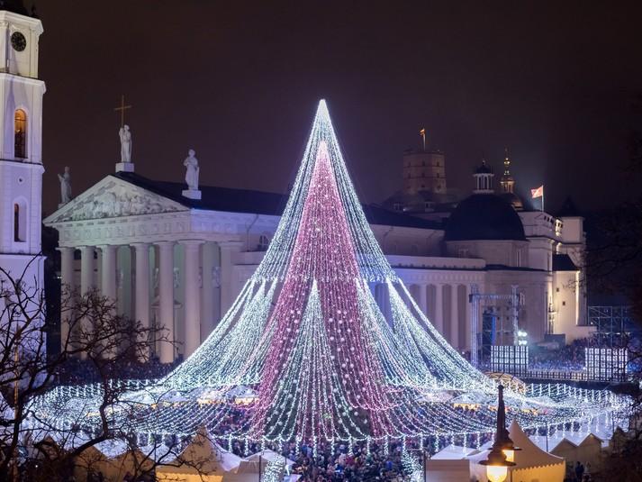 Кафедральная площадь, Вильнюс, Литва.