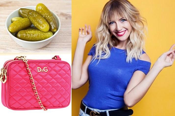 Украинская телеведущая призналась, что носит в брендовой сумке банки с огурцами