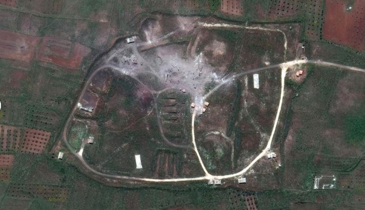 Супутникові знімки показали наслідки авіаударів по Сирії
