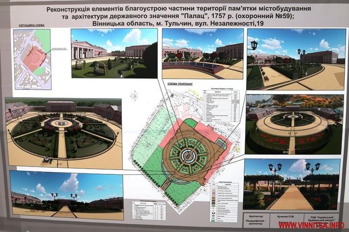 Відродження Палацу Потоцьких: фонтани, альтанки і відремонтовані корпуси (графіка)