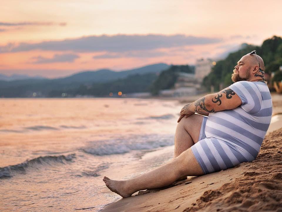 Открытки юбилеем, смешная картинка пляж