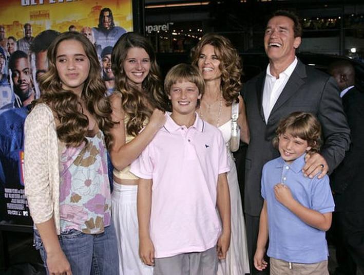 фото семьи арнольда шварценеггера