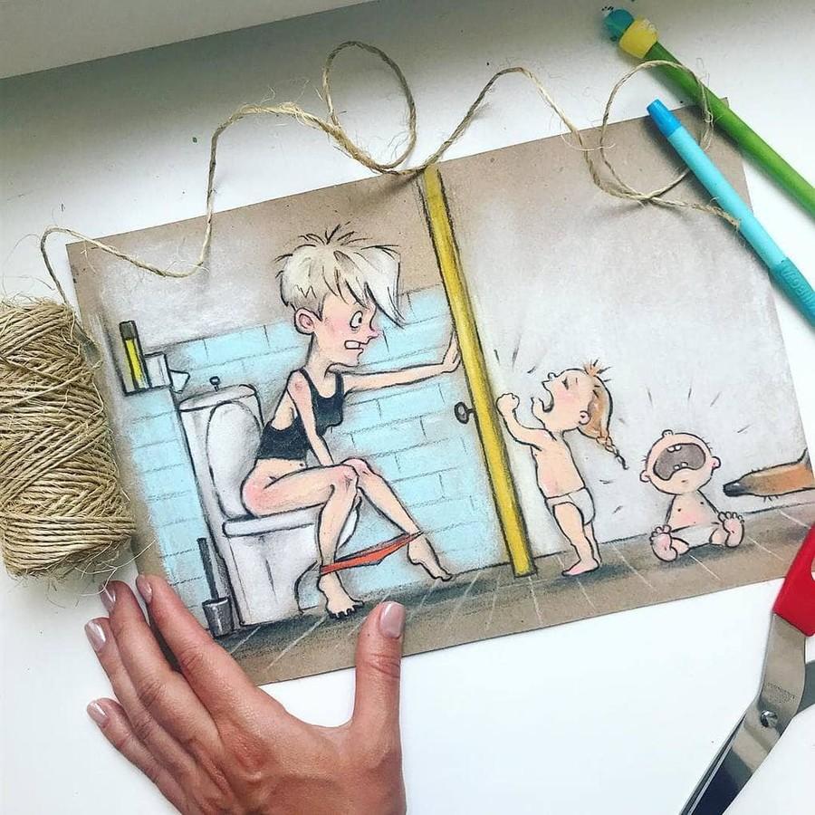 Мать с ребенком прикольные картинки, хорошим днем для