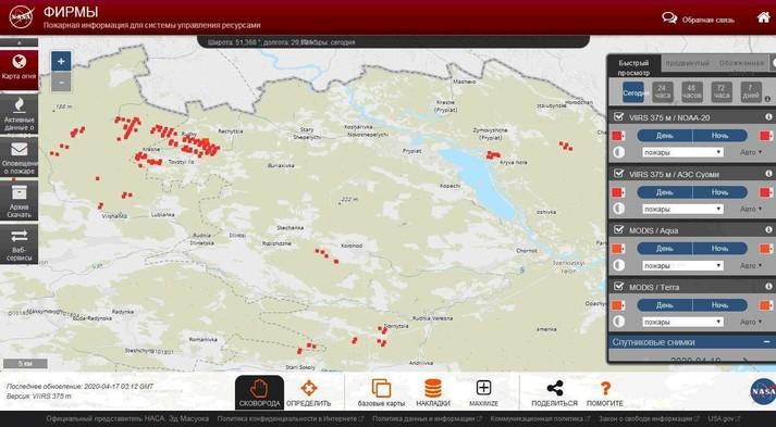 Пожежі в Чорнобильській зоні спалахнули з новою силою: горять ліси і села (фото)