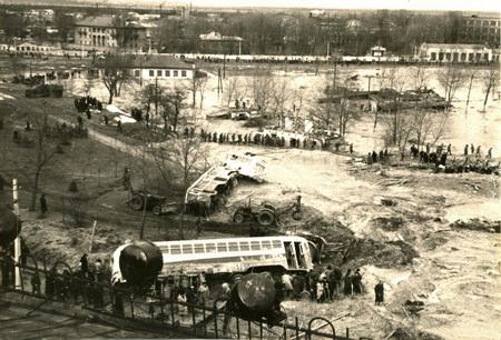 Трамвайное депо им. Красина после катастрофы / Фото УНИАН