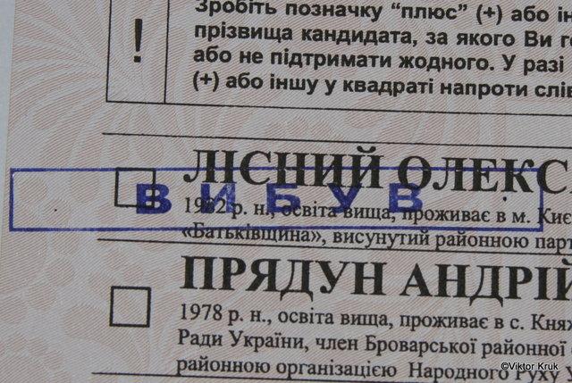 «Батьківщину» снимают с выборов на Киевщине O-00022093-n-00067455