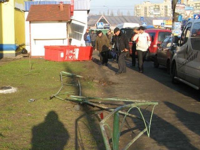 Разбитые авто и сломанные заборы, так в Киеве УБОП ловил автоугонщиков (фото)